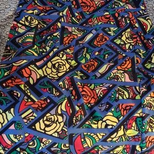 Flower Pattern Pencil Skirt